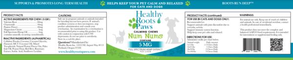 60 Num nums cbd dog chews