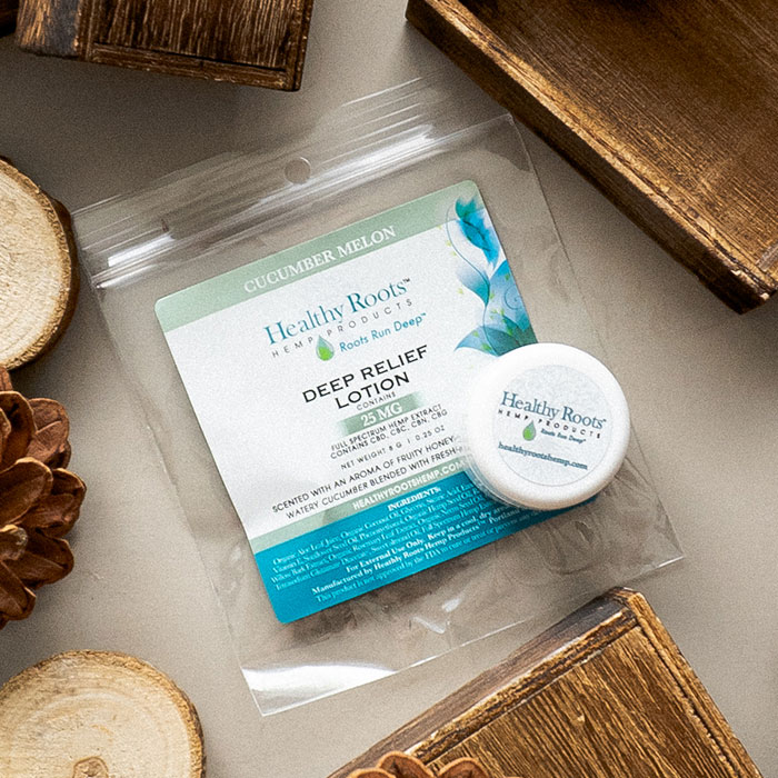 Healthy Roots Hemp Deep Relief CBD Lotion Sample