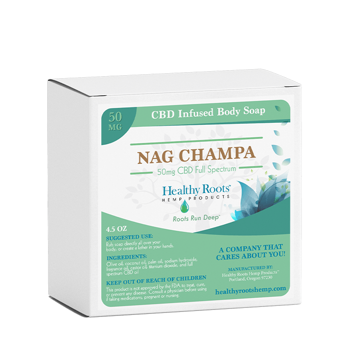 Healthy Roots Hemp Nag Champa CBD Bar Soap 100mg