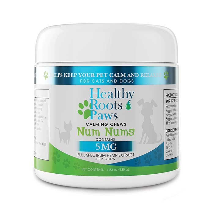 Healthy Roots Paws Num Nums Chews 5mg
