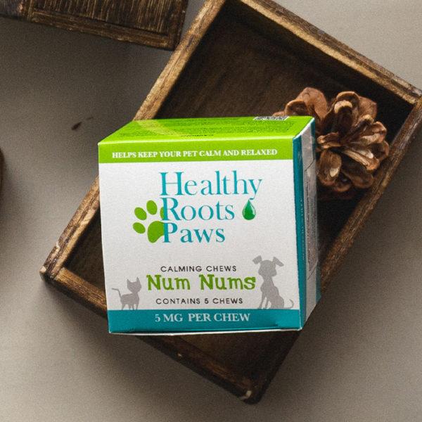 Healthy Roots Peanut Butter Hemp CBD Calming Dog Treat Sample cbd dog chews